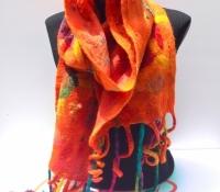 Nuno felt merino wool/silk scarf (SOLD)