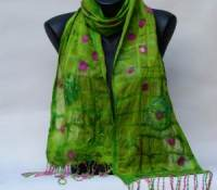 Nuno silk merino wool wrap