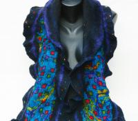 Nuno Felt ruffle scarf